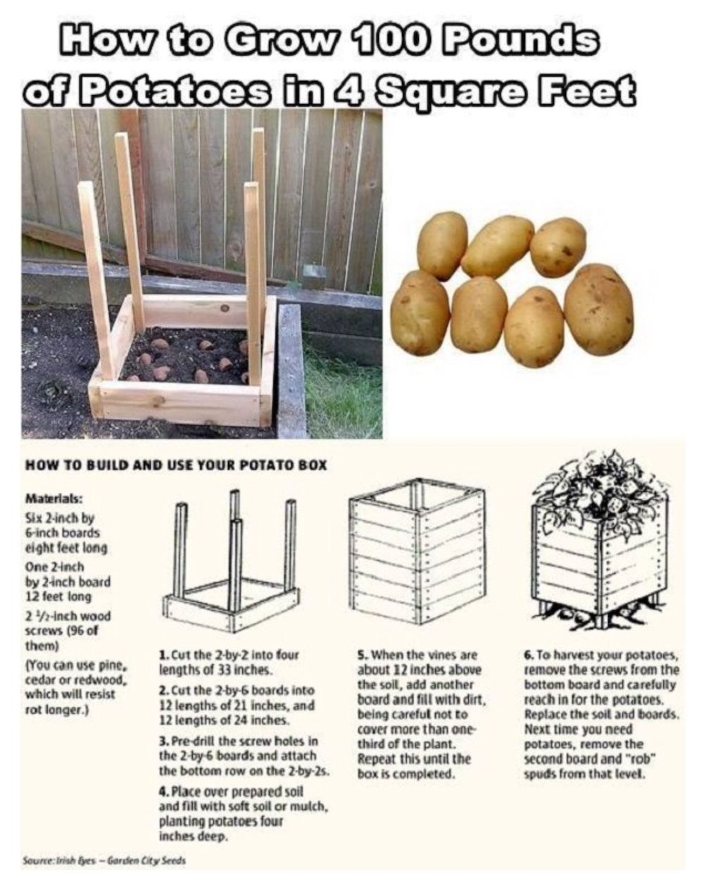 How to make a box for home-grown potatoes