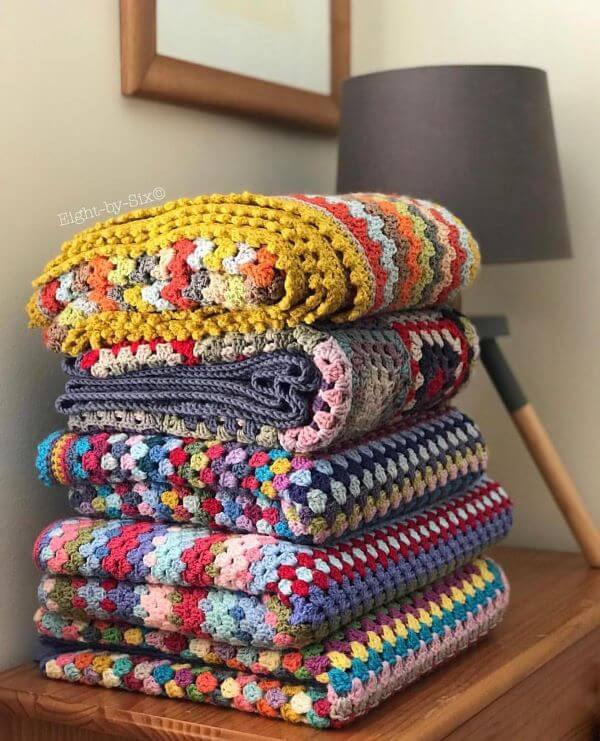 Different types of crochet bedspread for bed