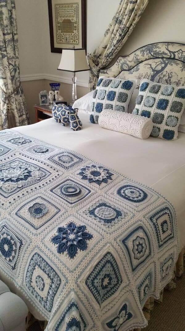 Crochet quilt for double bedroom