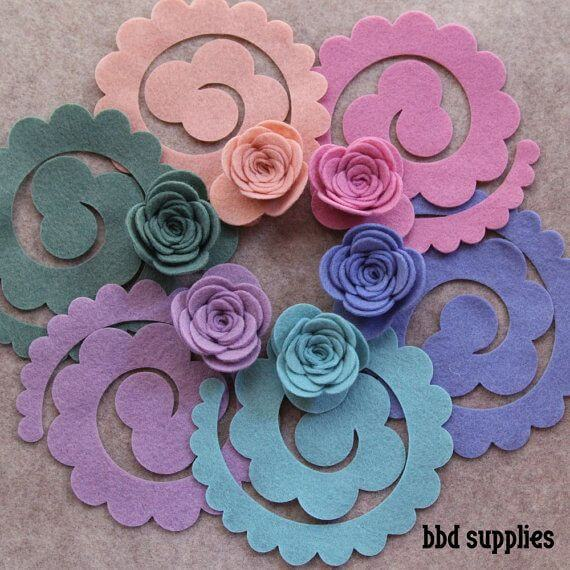 Simple and beautiful felt flower mold