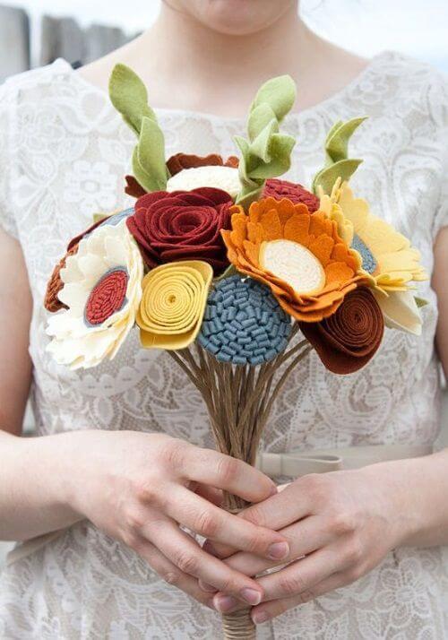 Felt flower bouquets