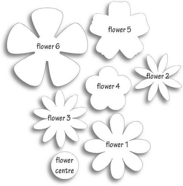 Different felt flower molds
