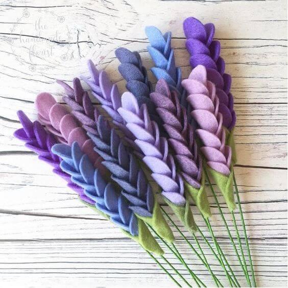 Felt lavender with lavender