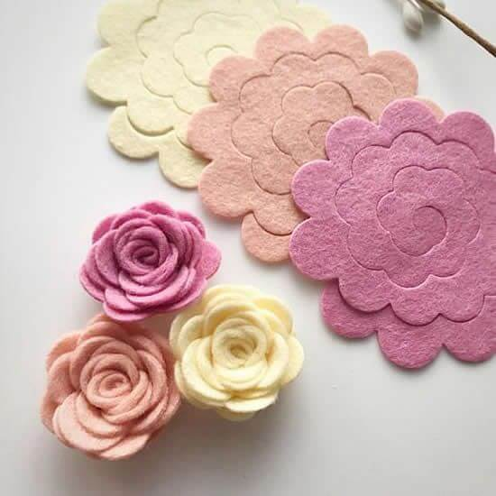 Learn how to make felt flowers