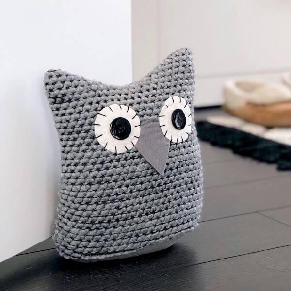 owl crochet door weight
