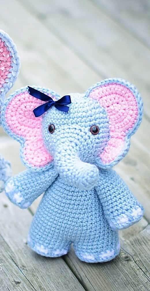 Crochet door weight with elephant