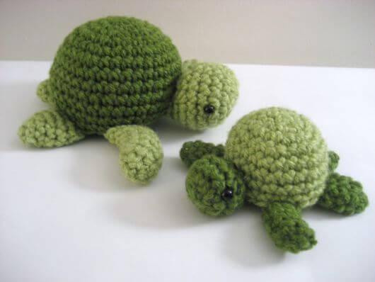 Turtle crochet door weight