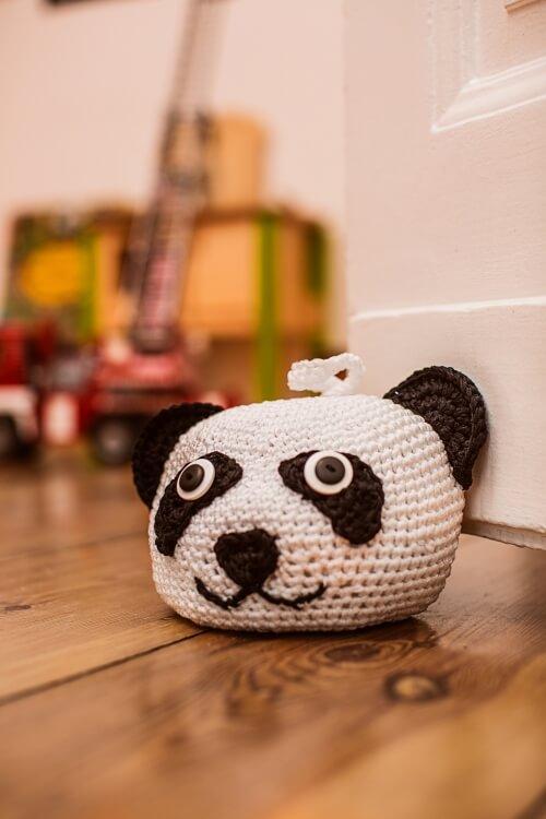 Panda crochet door weight