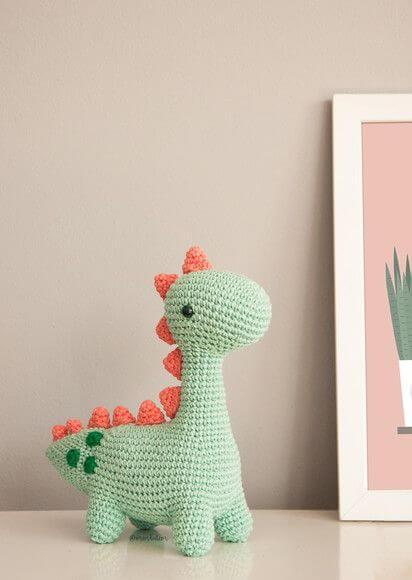 Dinosaur crochet door weight