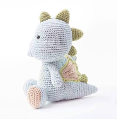 Dragon crochet door weight