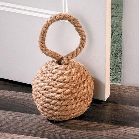 Door weight with string