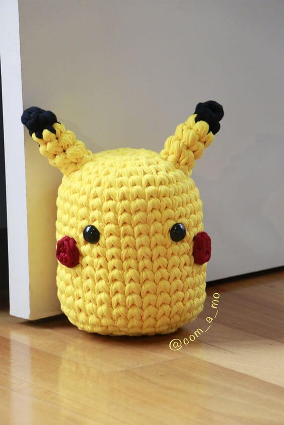Character crochet door weight
