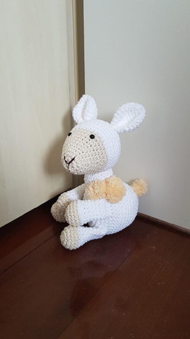 Sheep crochet door weight