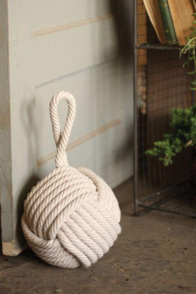 Round crochet door weight