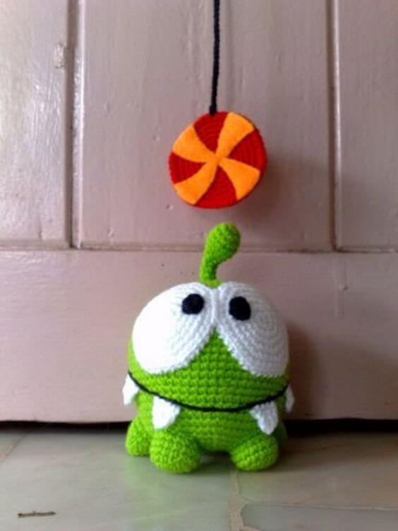 Dinosaur crochet door weight pets
