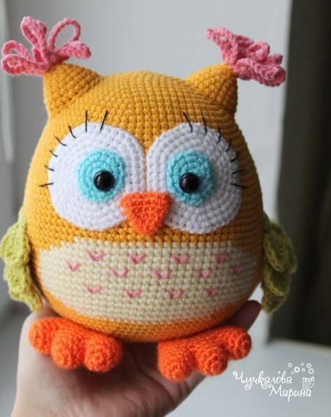 Crocheted animals for port weight