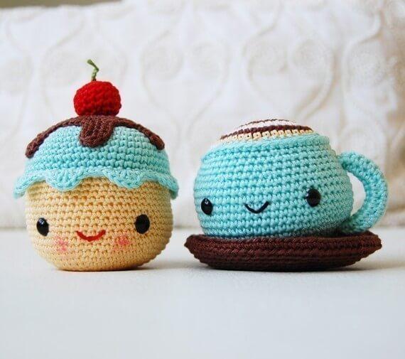 Crochet animals for door weight
