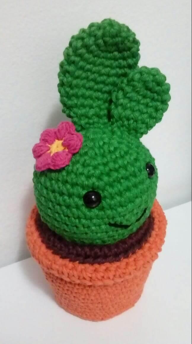 Door weight in crochet cactus