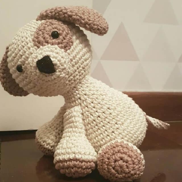Dog crochet door weight