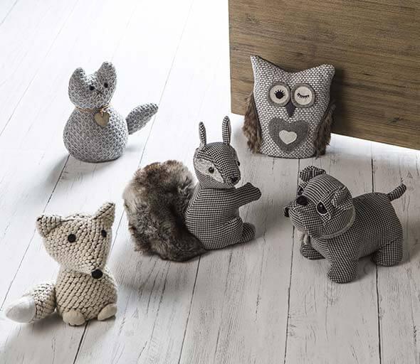 Fabric crochet door weight