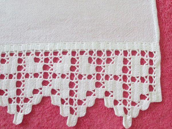 Crochet hook on towel