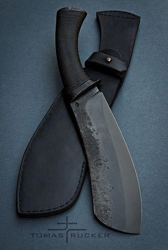 types of knives - knife with black sheath