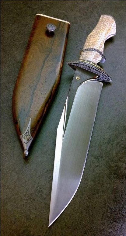 types of knives - knife in wooden sheath