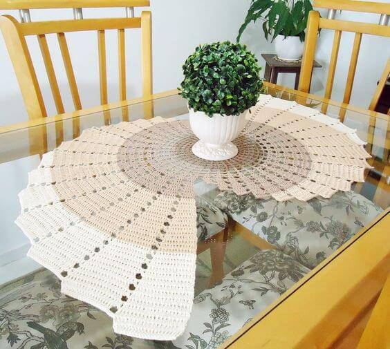 Long and creative crochet centerpiece