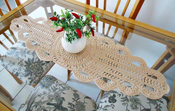 Long crochet centerpiece
