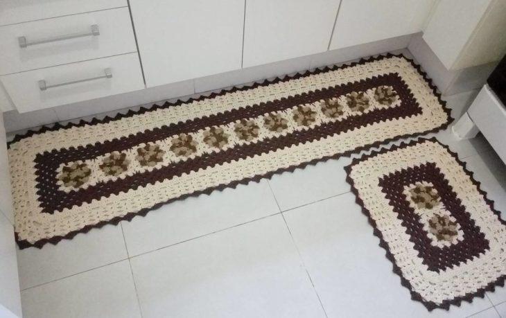 Crochet Kitchen Rug - Beige Rugs