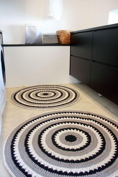 crochet rug for kitchen - circular rugs