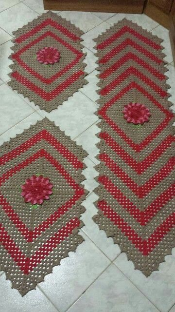 crochet rug for kitchen - rugs in v