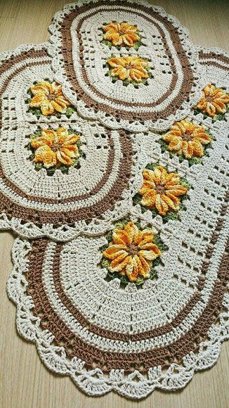 crochet rug for kitchen - white and brown oval rugs