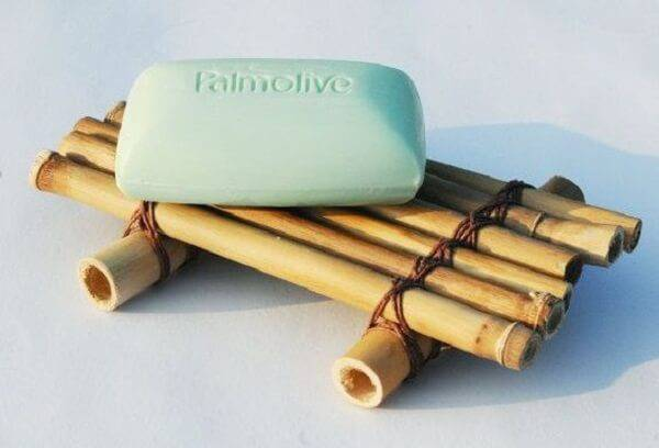 Soap holder created from fine bamboo crafts