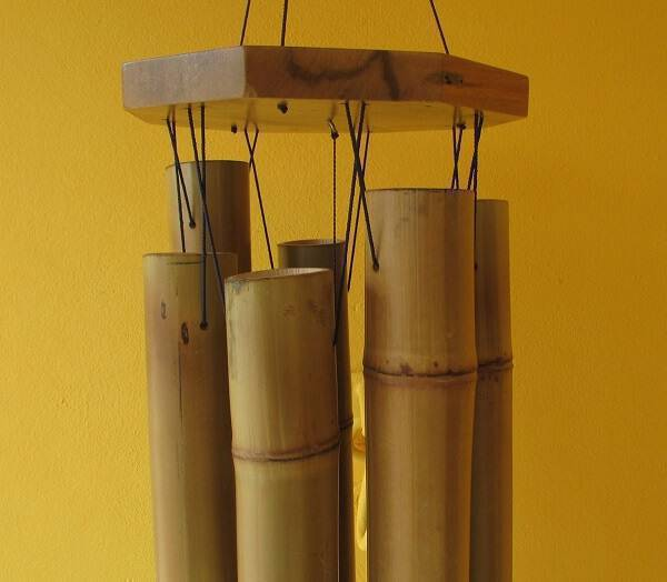Bamboo crafts how to make a wind bell