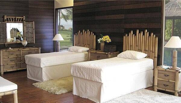 Bamboo can be used in different ways in decoration