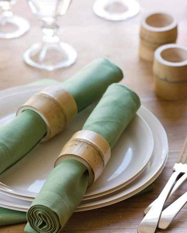 Bamboo can help organize the table