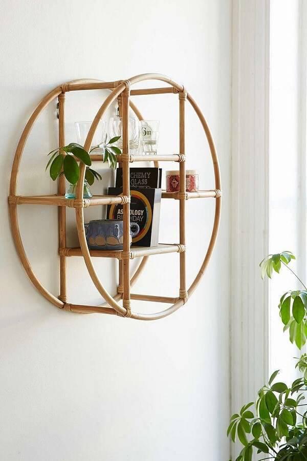 Creative shelf made from bamboo crafts