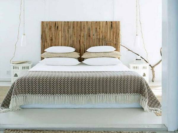 It is possible to create a beautiful headboard using fine bamboo crafts