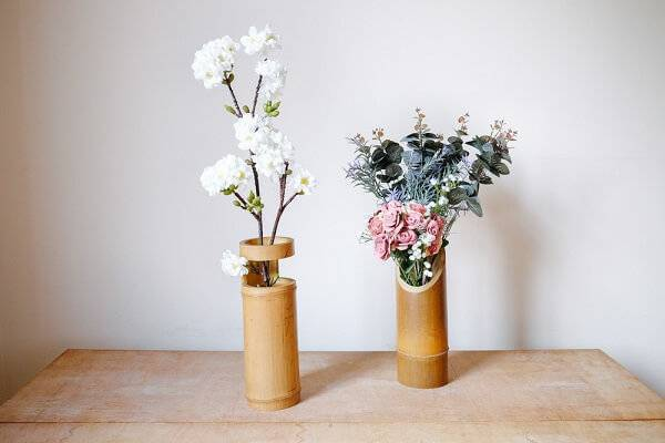 Bamboo crafts serve as support for plants