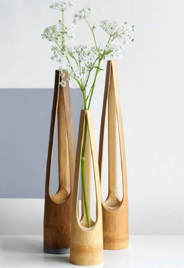 Create delicate pieces through bamboo crafts