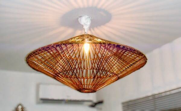 Chandelier made of fine bamboo crafts