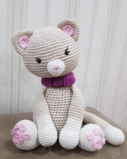 Kitten crochet door weight