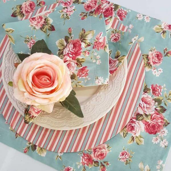 Printed fabric napkin