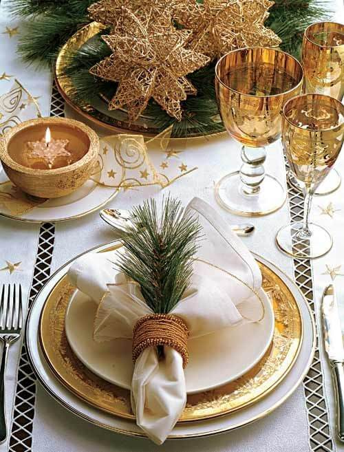 Christmas decoration with fabric napkin