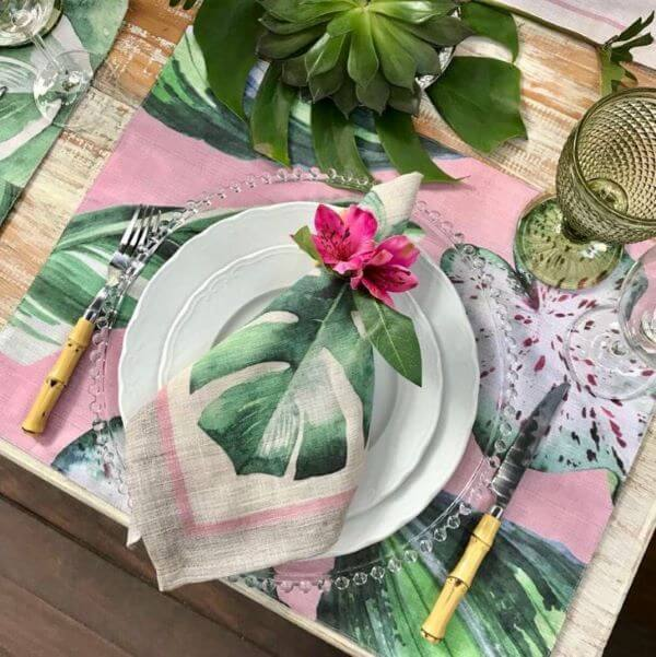 Fabric napkin for tropical party