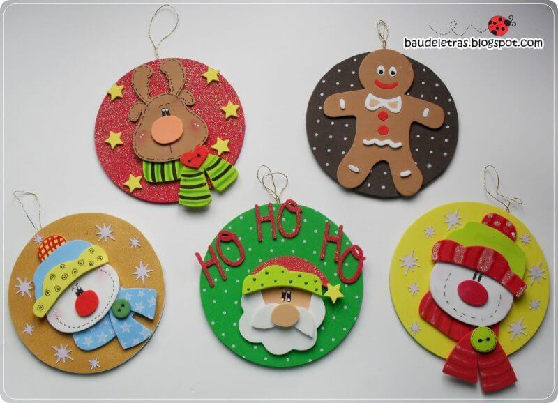 EVA Christmas ornaments with Christmas characters