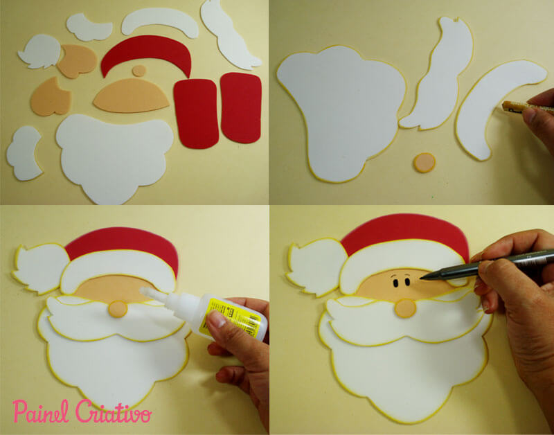Step by step to make Christmas ornaments in EVA