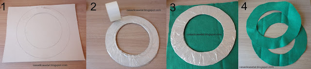 This is basically the step by step to start your DIY Christmas wreath