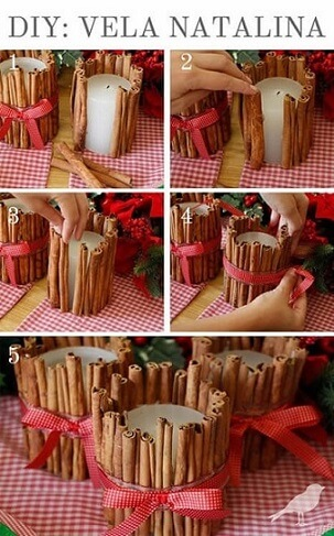 Step by step how to make Christmas ornaments with candles